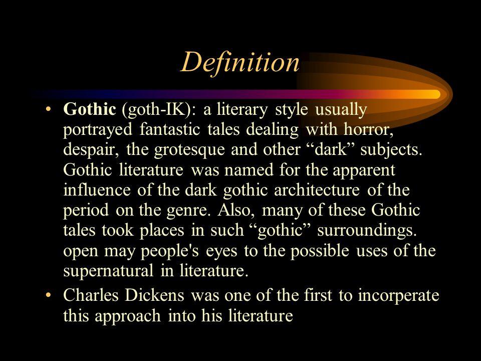 Gothic Definition Literature