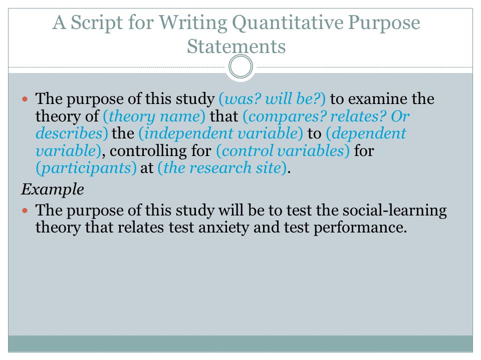 The Purpose Statement And Research Questions Ppt Video