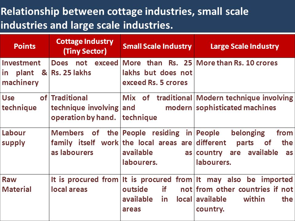Difference Between Cottage And Village Industries