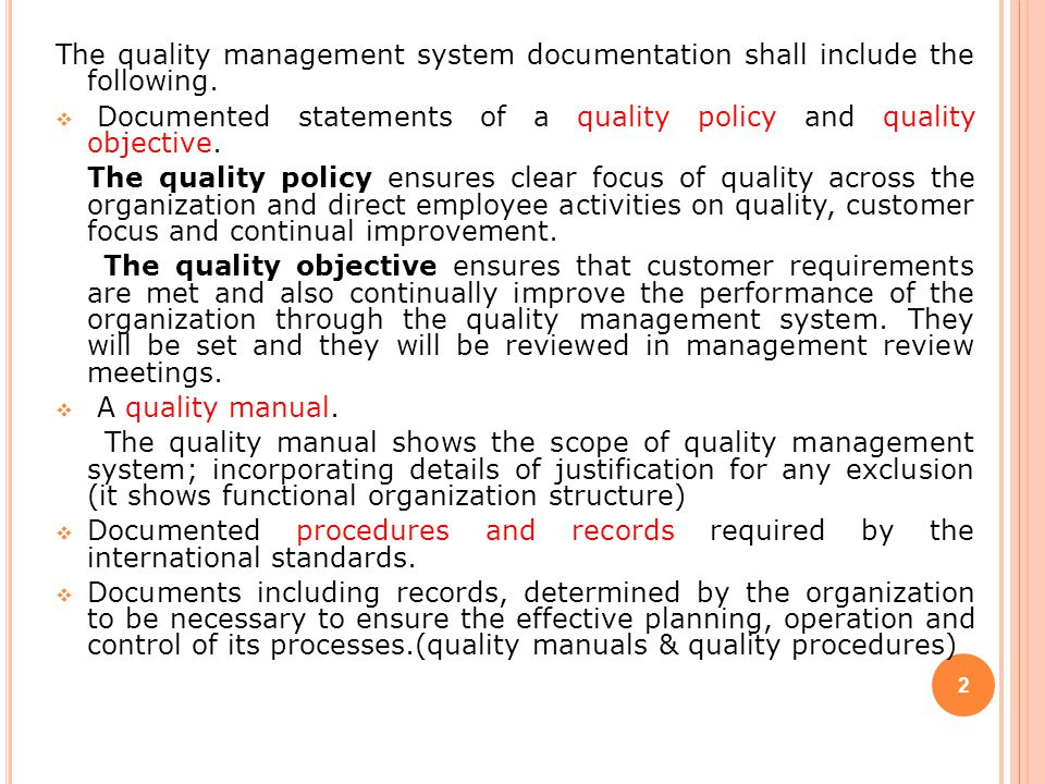 Quality systems the.gov means it's official.federal government websites often end in.gov or.mil. Documentation Requirements Based On Iso 9001 Ppt Video Online Download