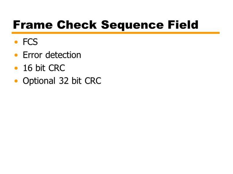Frame Check Sequence Vs Crc | Allframes5.org