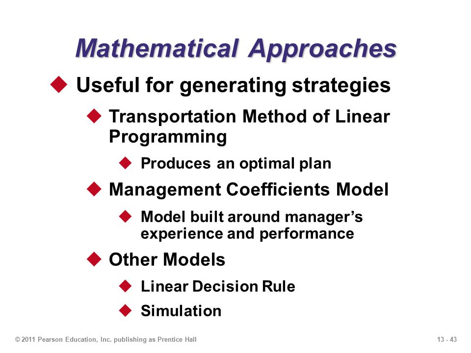 13 Aggregate Planning PowerPoint presentation to accompany