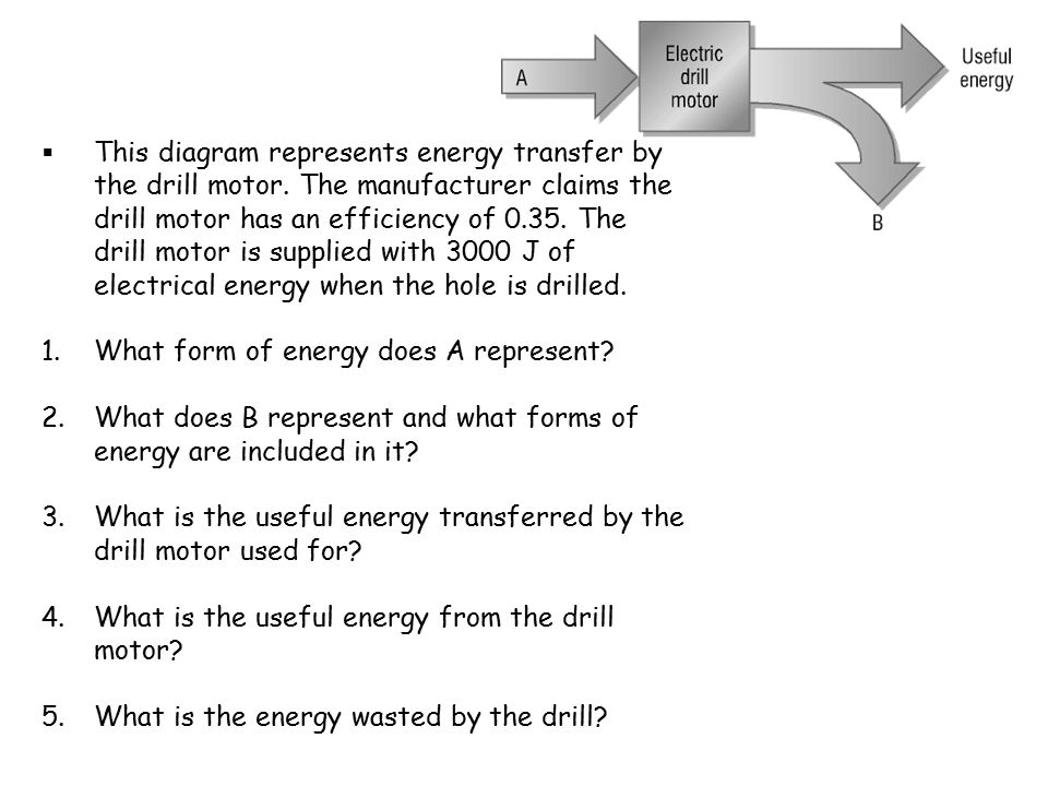 energy transfer diagram for a torch basic home electricity wiring diagrams transfers and efficiency ppt download this represents by the drill motor