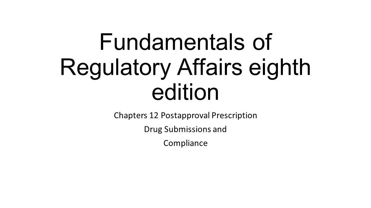 [WRG-5660] Fundamentals Of Us Regulatory Affairs