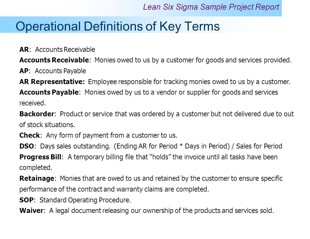 4 Operational Definitions