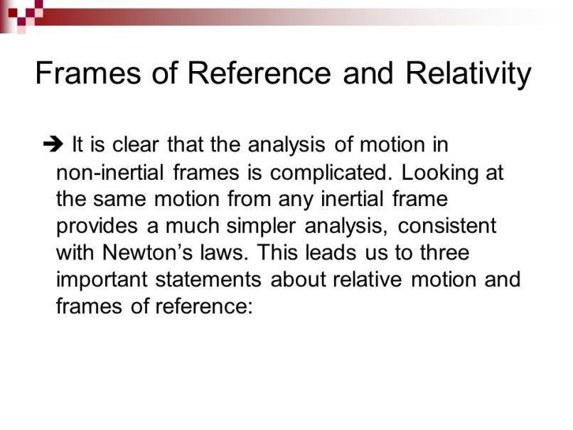 Non Inertial Frame Of Reference Ppt | Framess.co