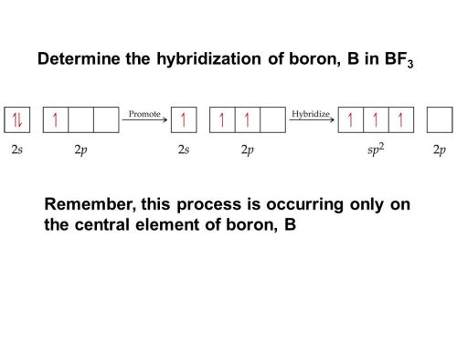 small resolution of determine the hybridization of boron b in bf3