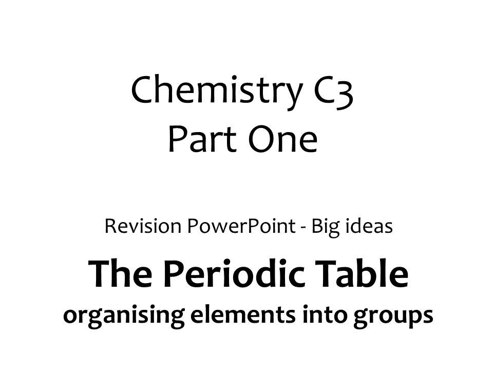 Newlands Vs Mendeleev AQA C3 Gcse