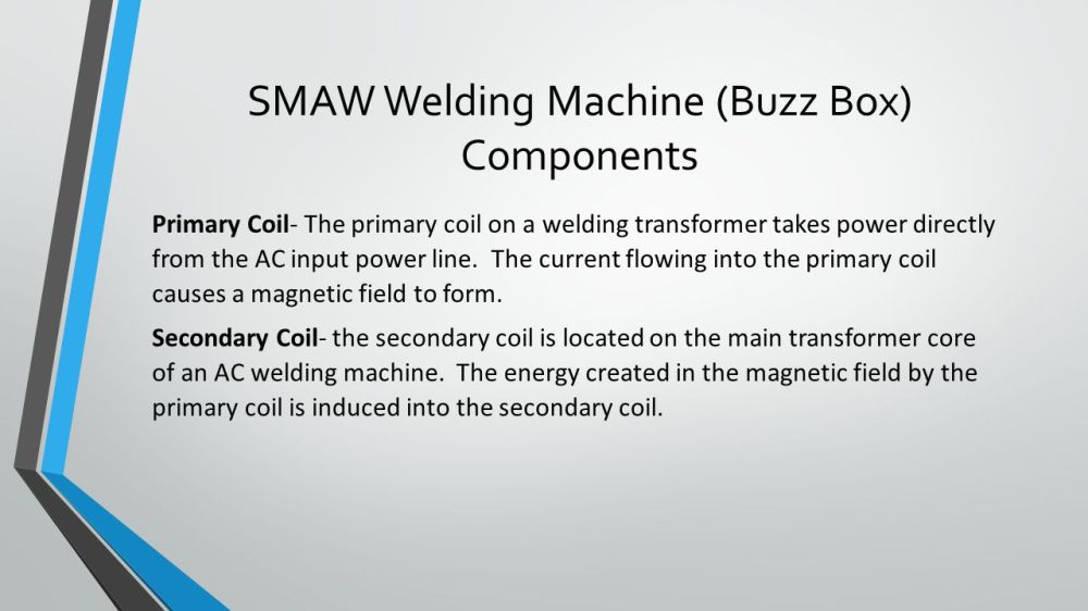 medium resolution of smaw welding machine buzz box components