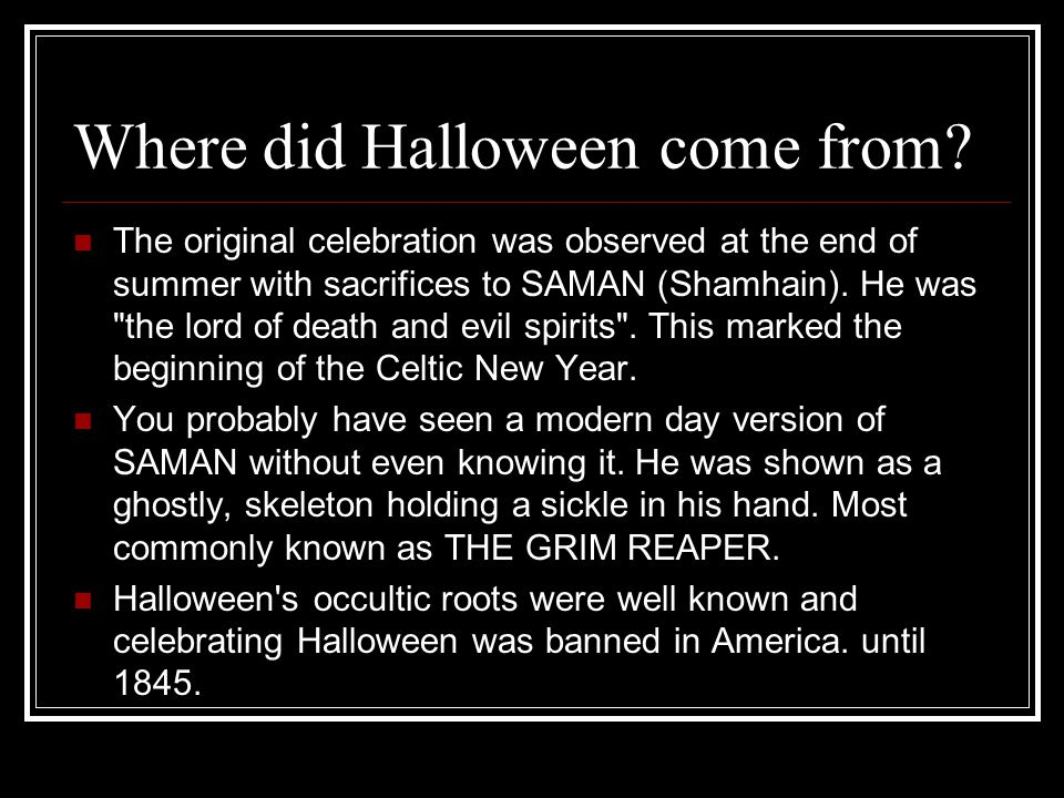 where did halloween come from beneath halloween s candy coating is a history of diabolical evil