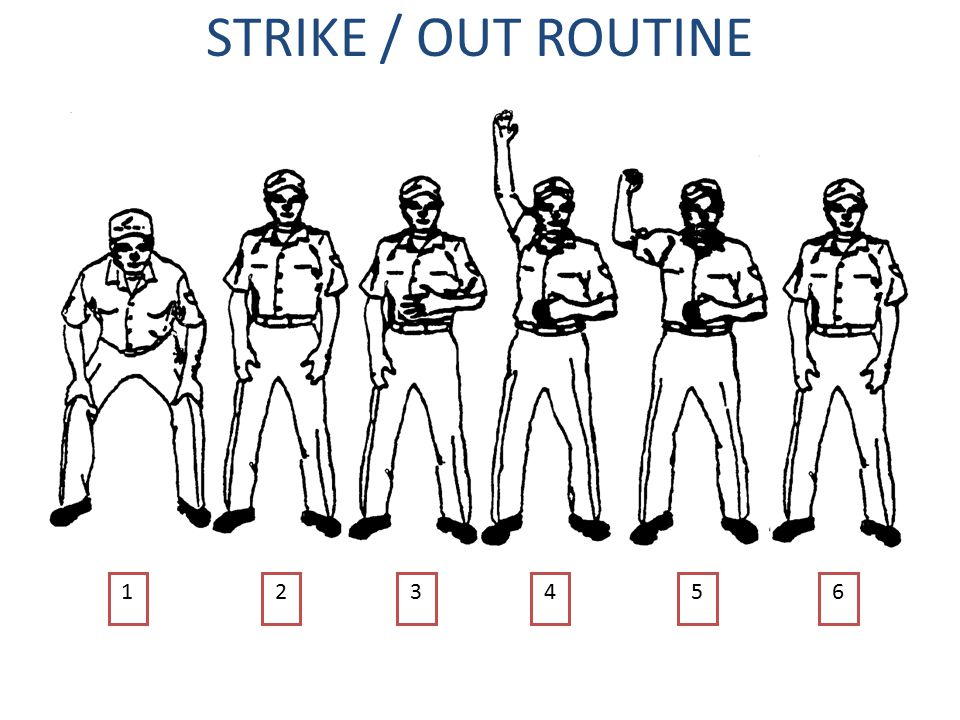 UMPIRE SIGNAL CHART (1) DOUBLE TRAPPED BALL DELAYED DEAD