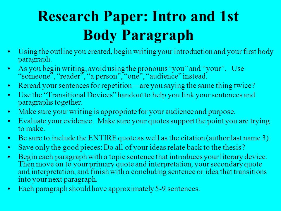 Good Intro To Research Paper Coursework Writing Service