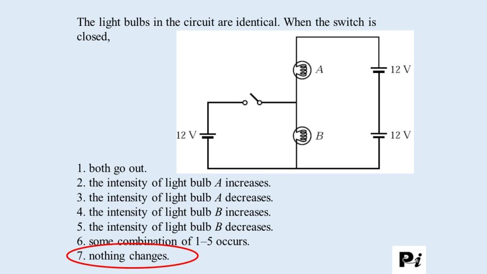 medium resolution of 2 the intensity of light bulb a increases