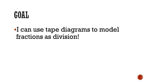 small resolution of 2 goal i can use tape diagrams to model fractions as division