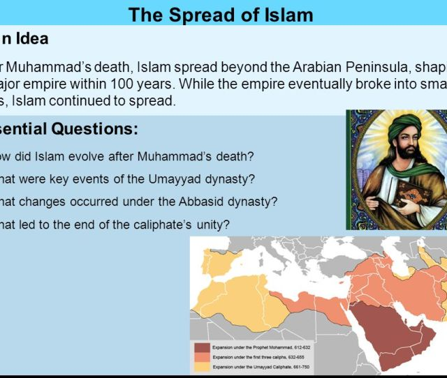 The Spread Of Islam Main Idea Essential Questions