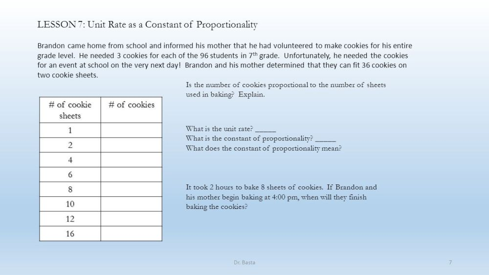 medium resolution of LESSON 7: Unit Rate as a Constant of Proportionality - ppt download