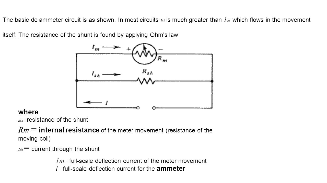 hight resolution of rm internal resistance of the meter movement resistance of the