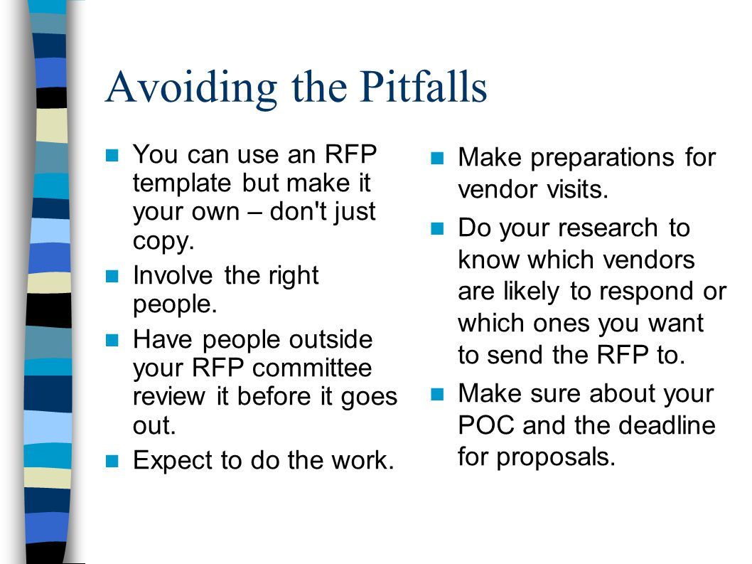 Avoiding The Pitfalls You Can Use An Rfp Template But Make It Your Own – Don