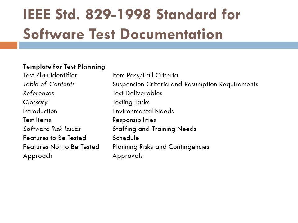 The first step to writing a test plan is to recognize what is trying to be accomplished with this document since it will affect software testing lifecycle. Test Plan Ppt Download