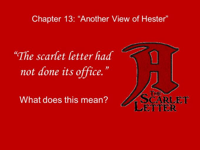 the scarlet letter chapter 13 summary shmoop | letternew.co