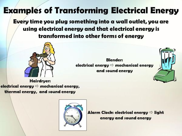 Identify all the forms of energy you see in the picture