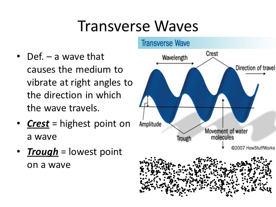 mechanical wave diagram 80 series landcruiser wiring in toyota gooddy ch 17 waves sound ppt video online download transverse def a that causes the medium to vibrate at right angles
