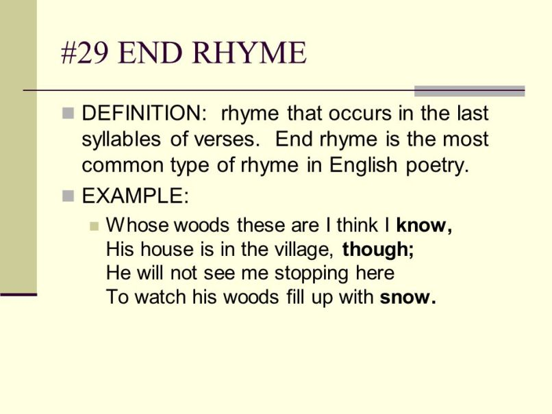 End rhyme examples images example of resume for student.