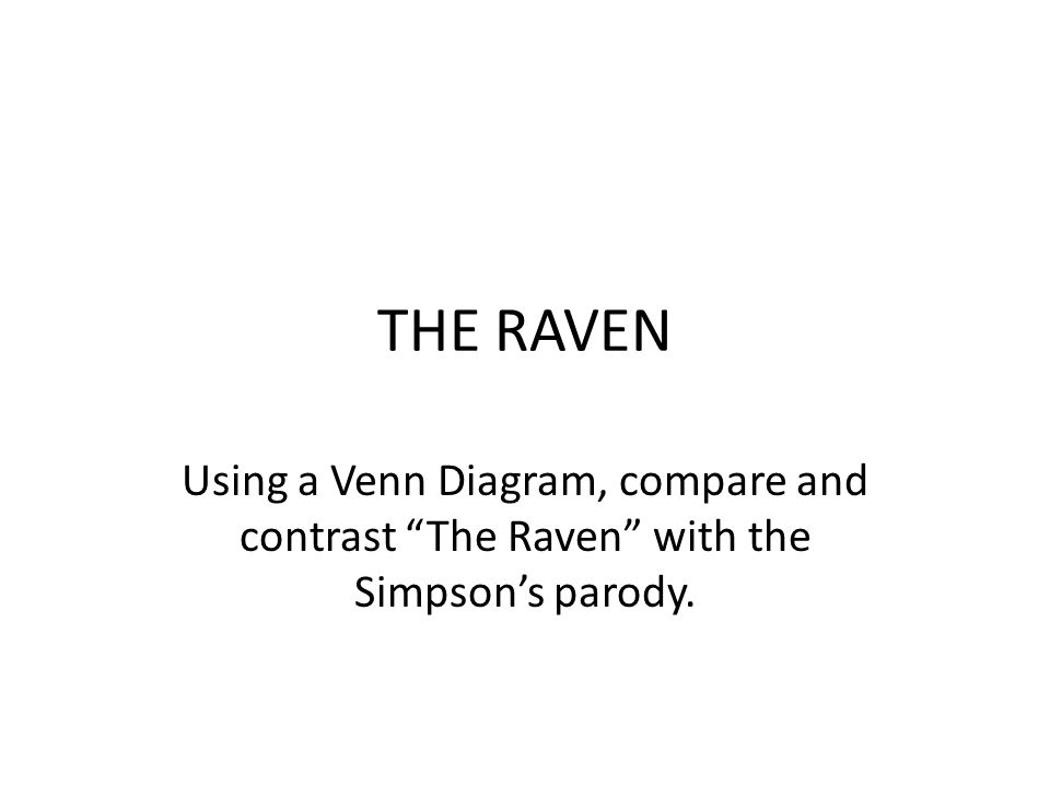 using a venn diagram to compare and contrast 2 way lighting switch wiring the raven with simpson s parody ppt video online download