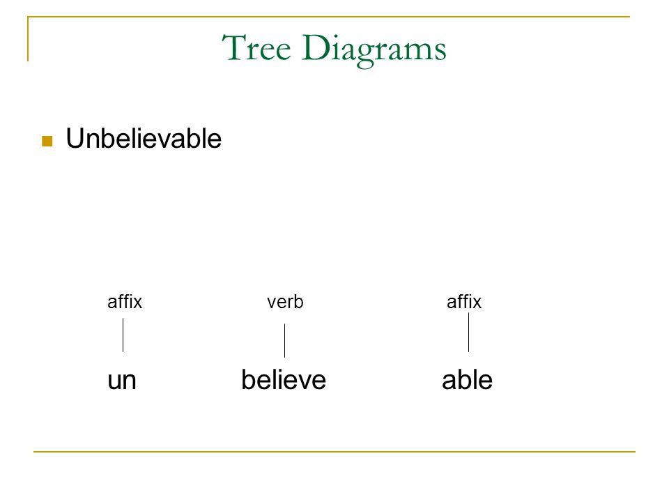 morphology tree diagram of whitetail deer skull class 6 lesson ppt video online download 9 diagrams unbelievable affix verb un believe able