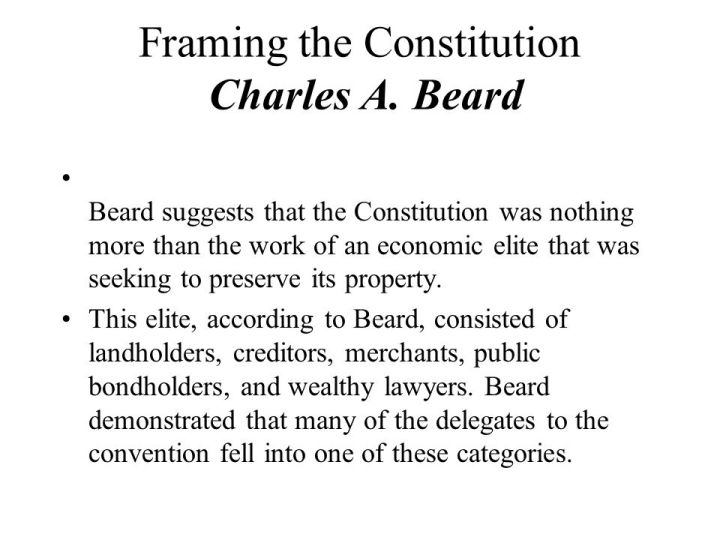 Charles A Beard Framing The Constitution Questions | Framess.co