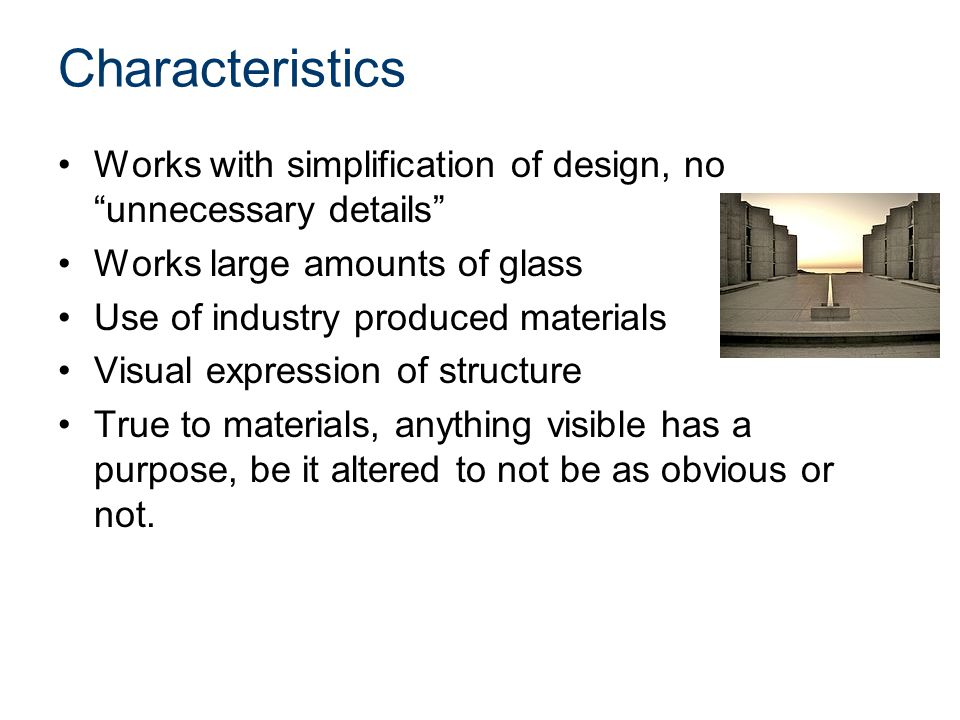 113 Architectural Styles Modern Architecture  ppt video online download