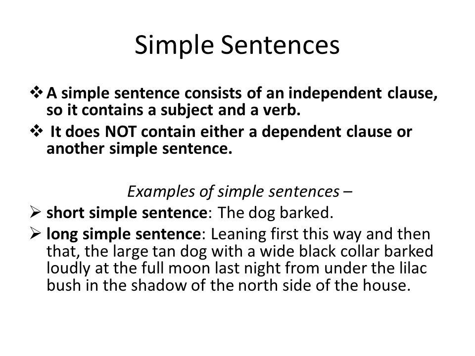 Simple Compound and Complex Sentences  ppt video online