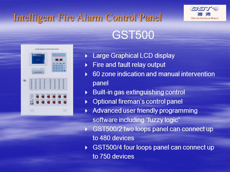 gst addressable smoke detector wiring diagram 99 tahoe tail light fire alarm system international business department intelligent control panel