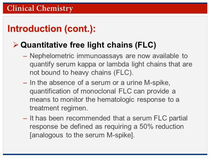 Kappa Lambda Light Chains Free Ratio Quantitative Serum