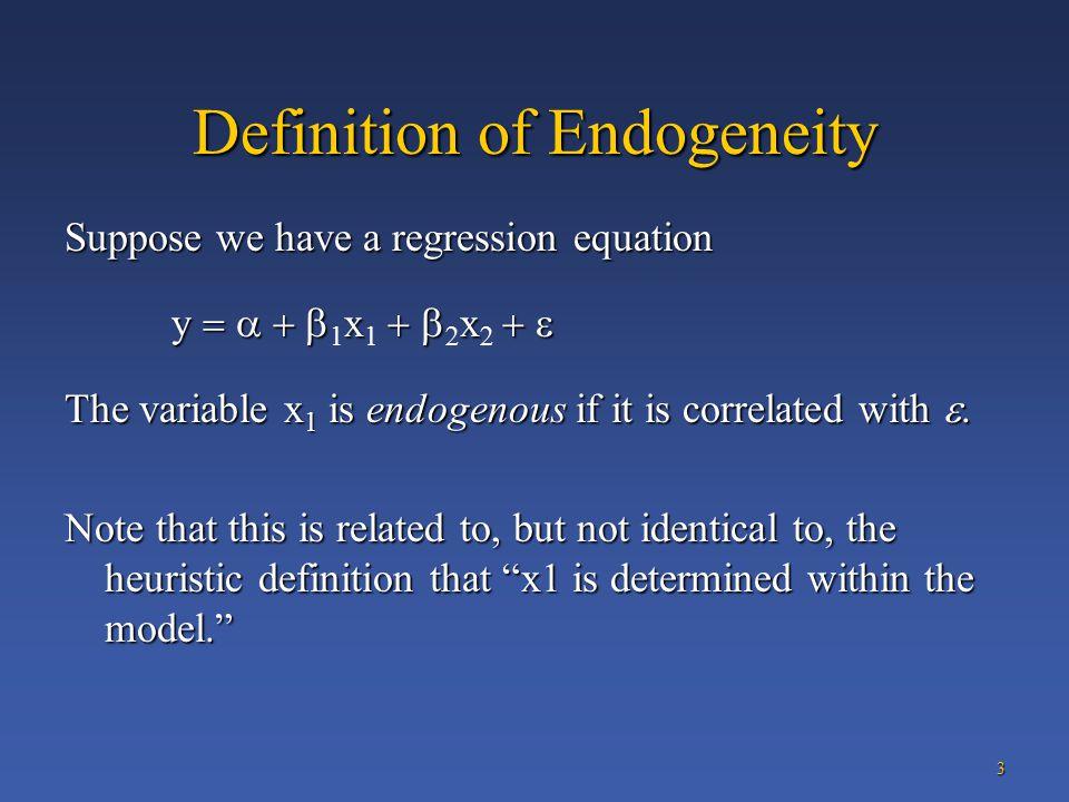 Econometrics Course Endogeneity  Simultaneity  ppt download