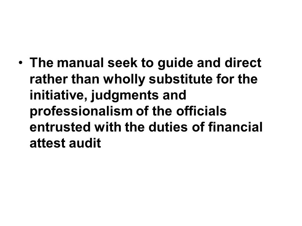 FINANCIAL ATTEST AUDIT MANUAL CAG PDF