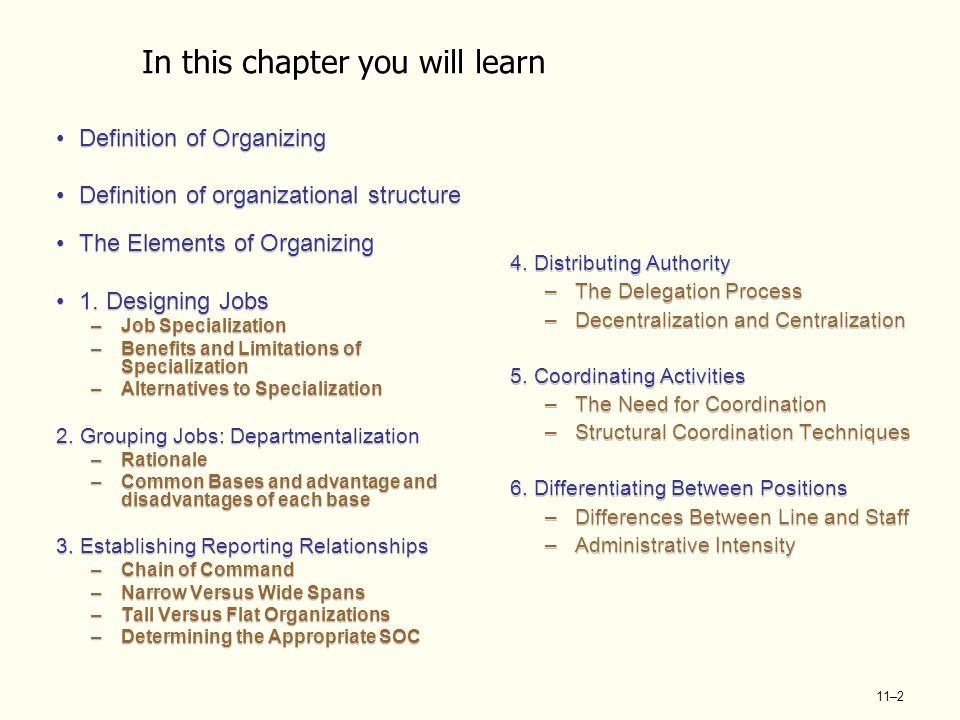 Structural Organization Levels Six