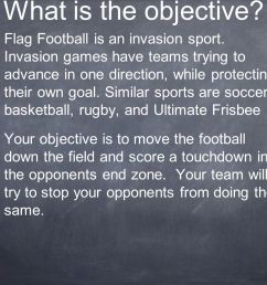 flag football is an invasion sport invasion games have teams trying to advance in one direction while protecting their own ppt video online download [ 1365 x 1024 Pixel ]