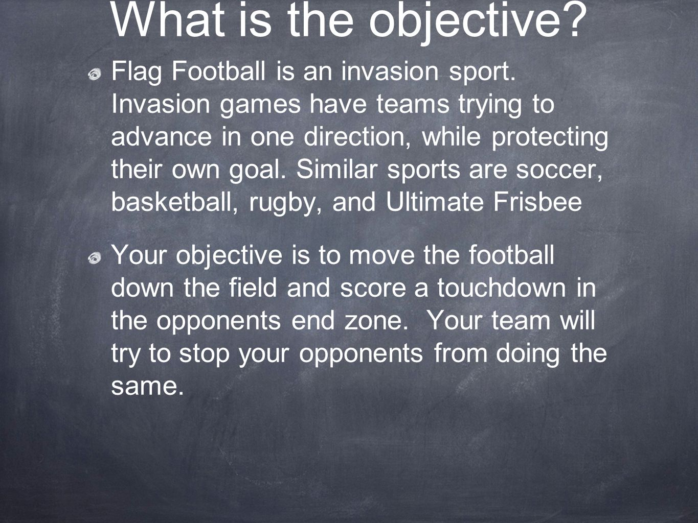 hight resolution of flag football is an invasion sport invasion games have teams trying to advance in one direction while protecting their own ppt video online download