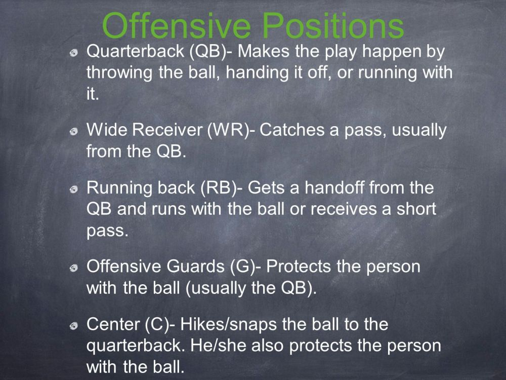 medium resolution of offensive positions quarterback qb makes the play happen by throwing the ball