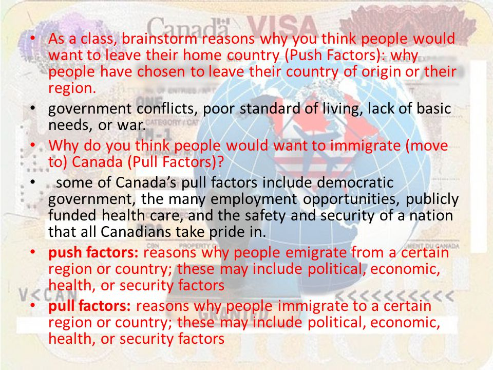 canada s immigration policy