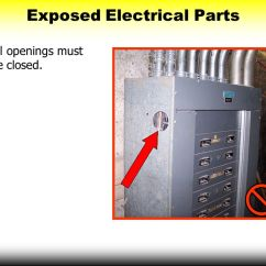 Electrical Panel Hazards Kenworth T800 Battery Wiring Diagram Big Four Construction Ppt Download Exposed Parts