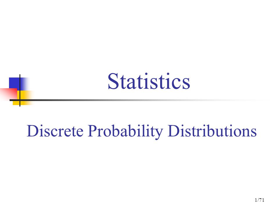 Discrete Probability Distributions  ppt download