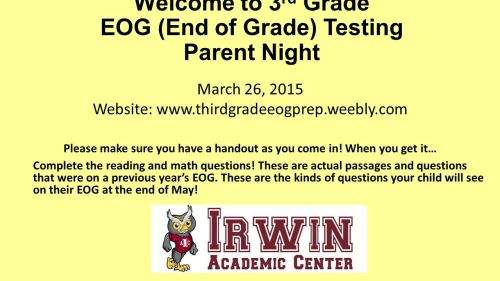 small resolution of Welcome to 3rd Grade EOG (End of Grade) Testing Parent Night - ppt video  online download