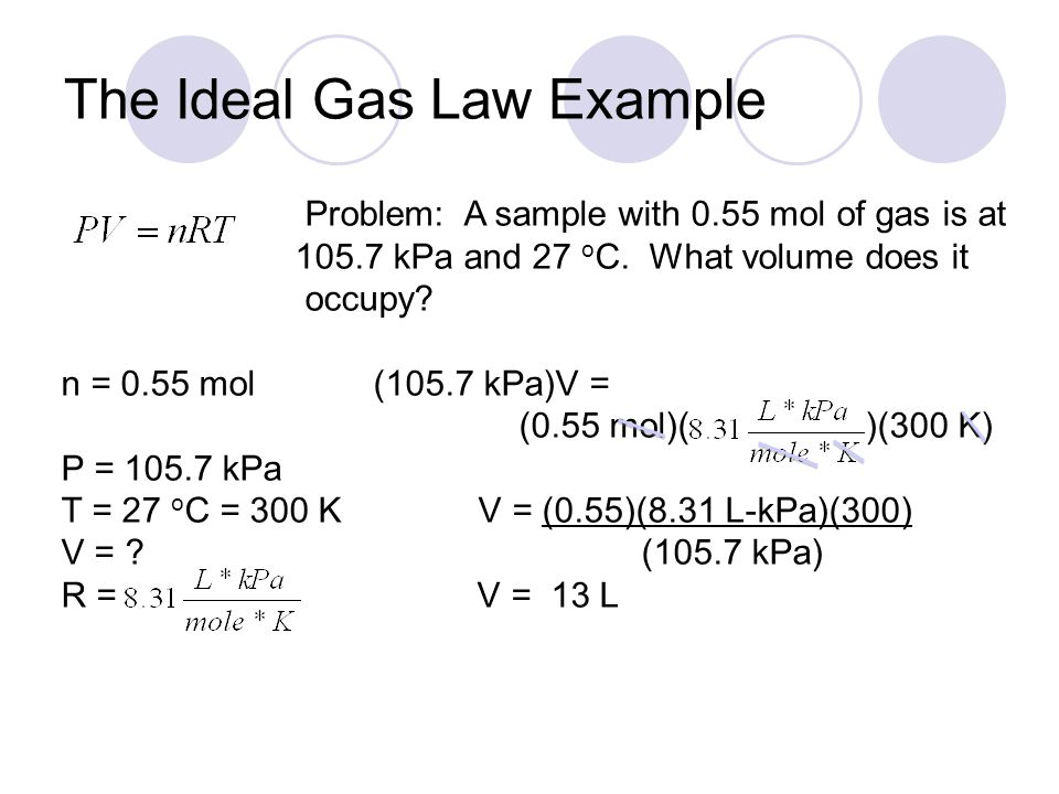 Ideal Gas Law Problems And Answers