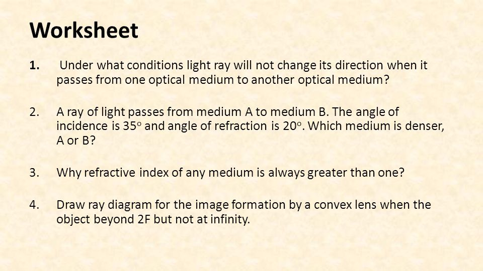 light ray diagram worksheets wiring for 4 pin trailer plug refraction dispersion and image formation via lenses worksheet 29 under what conditions