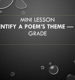 Mini lesson Identify a Poem's Theme — 5th grade - ppt video online download [ 720 x 1280 Pixel ]