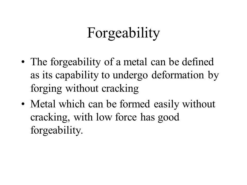 forgeability the forgeability of