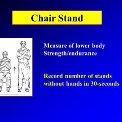 Chair Stand Test Measure Foldable Plans Introduction To Senior Fitness Instructor Jessie Jones Ph D 5