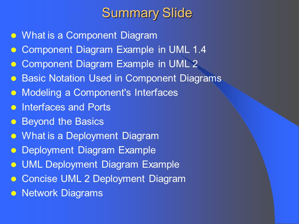 visio 2013 uml deployment diagram 87 chevy truck wiring component and diagrams ppt video online download summary slide what is a